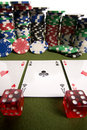 Free Dice, Cards And Poker Chips Royalty Free Stock Photography - 17453917