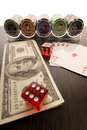 Free Dice, Cards And Poker Chips Royalty Free Stock Images - 17453989