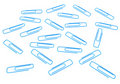 Free Blue Paper Clips Stock Photography - 17454072