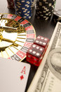 Free Dollars,cards And Poker Chips Stock Image - 17458281