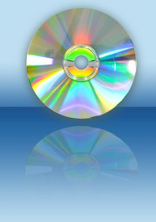 Free CD With Reflection Royalty Free Stock Images - 17450139