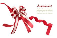 Free Shiny Red Ribbon Bow Royalty Free Stock Photos - 17450748