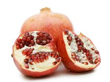 Free Pomegranate Isolated On White Royalty Free Stock Photography - 17451107