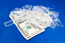 Free Drugs And Money Royalty Free Stock Photo - 17451825