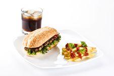 Free Ribeye Steak Meal Stock Photography - 17451832