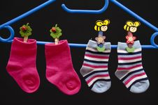 Free Child Stockings Royalty Free Stock Photography - 17451917