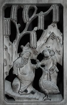 Free Chinese Wood Carving Stock Images - 17451944