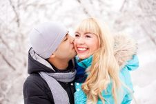Free Happy Kissing Couple Stock Images - 17452054