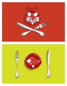 Free Edible Still-life. Cheerful Salami Stock Photos - 17452153