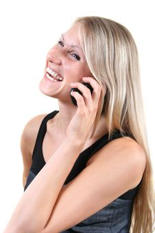 Free Young Woman Talking On The Phone Royalty Free Stock Image - 17453036