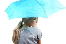 Free Woman With Umbrella Stock Photography - 17453192