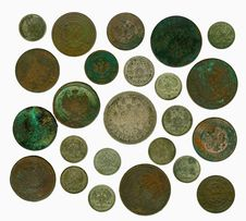 Free Set Of Old Russian Coins. Reverse Royalty Free Stock Photos - 17453358