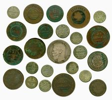 Free Set Of Old Russian Coins. Obverse Stock Photo - 17453360
