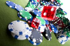 Free Red Casino Dice Stock Images - 17453824