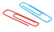 Free Red And Blue Paper Clips Royalty Free Stock Image - 17453986