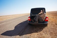 Free Man In Trunk Of Car Stock Images - 17454004
