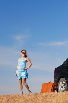 Free Girl Near The Car Stock Image - 17454031