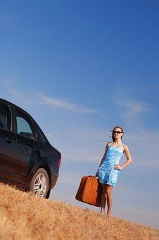 Free Girl Near The Car Royalty Free Stock Photos - 17454048