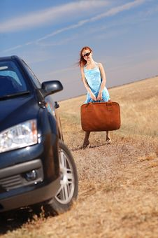 Free Girl Near The Car Stock Images - 17454064