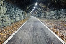 Abandoned Train Tunnel Royalty Free Stock Image