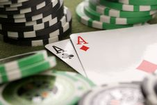 Free Poker Cards Stock Photography - 17454152