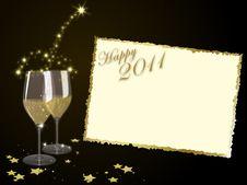 Free Happy 2011 Royalty Free Stock Photo - 17454155