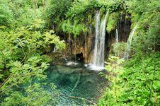 Free A Waterfall In Plitwicke Jezera In Croatia Royalty Free Stock Photos - 17454658
