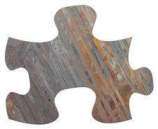Free Slate Jigsaw Puzzle Piece Stock Photos - 17455103