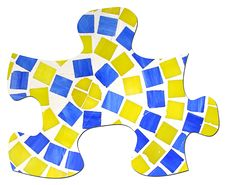 Free Tile And Grout Puzzle Piece Royalty Free Stock Photography - 17455107