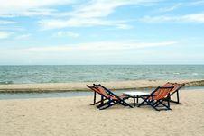 Beach Chairs Royalty Free Stock Photo