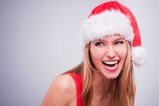 Free Christmas Girl Royalty Free Stock Image - 17455536