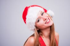 Free Christmas Girl Royalty Free Stock Image - 17455546