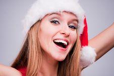 Free Christmas Girl Stock Photography - 17455552