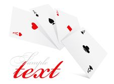 Four Aces Of Different Card Suits Royalty Free Stock Photo