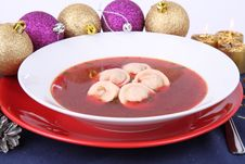 Red Borscht Royalty Free Stock Photography