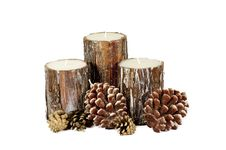Free Wooden Candle Royalty Free Stock Photos - 17455918