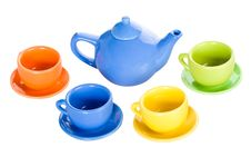 Free Teapot And Four Cup Set Stock Image - 17456001