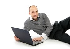 Free Happy Man With Laptop Royalty Free Stock Photo - 17456135