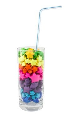 Free Multicolored Stars In A Glass Stock Images - 17457014