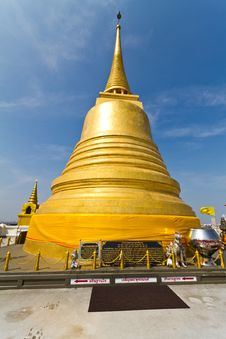 Golden Mount Temple Stock Image