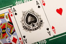 Free Poker Cards Royalty Free Stock Images - 17457379