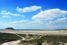 Free Steppe Roads And Amazing Landscape In Mangistau Stock Image - 17457391