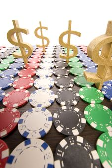 Free Poker Chips Royalty Free Stock Images - 17457659