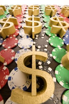 Free Poker Chips Stock Photo - 17457690