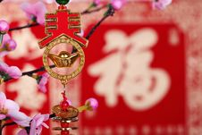Free Chinese New Year Decoration Royalty Free Stock Photos - 17457828