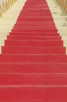 Free Red Stairs Stock Photo - 17458110