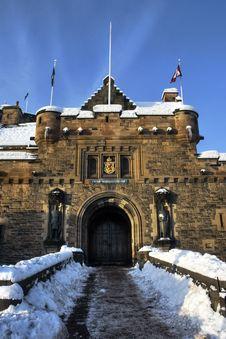 Free Snowy Gates To Castle Royalty Free Stock Photos - 17458148