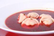 Borscht With Dumplings Royalty Free Stock Photography