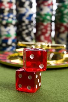 Free Casino Dice Stock Image - 17458181