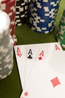 Free Poker Cards Stock Photography - 17458322